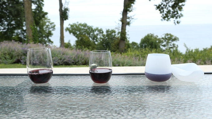 Current shatterproof goblet-shaped options cost at least two, four, even 20 or more times the price of HaloVino