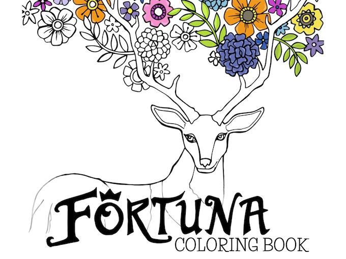 Fortuna Coloring Book Enchanted Deer