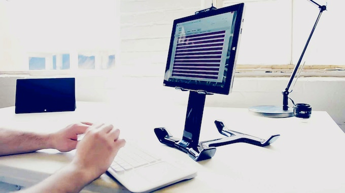 Tstand transforms your tablet into a workstation