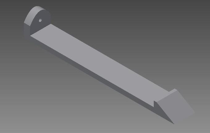 The doorstop modeled in Autodesk Inventor