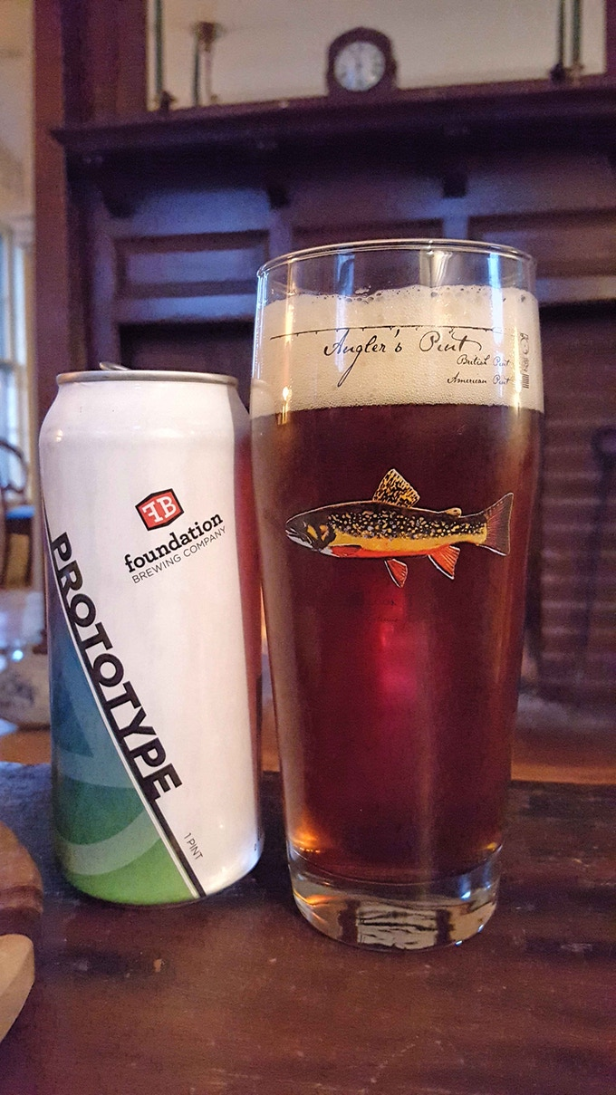 The Brown Trout Angler's Pint will be a perfect companion to the Brook Trout Angler's Pint pictured here.