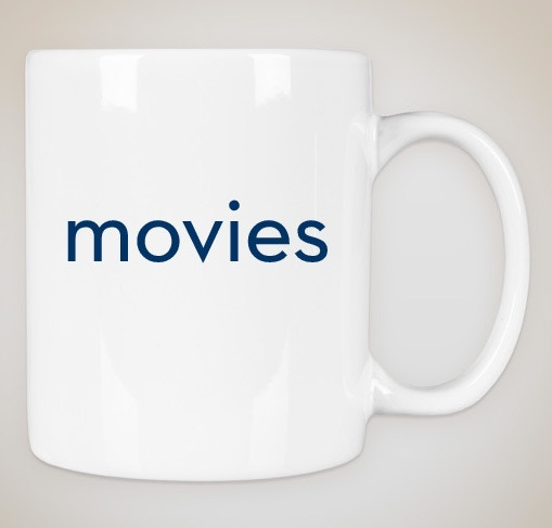 white mug w/ navy blue print (1 for $12 // or 5 for $39)