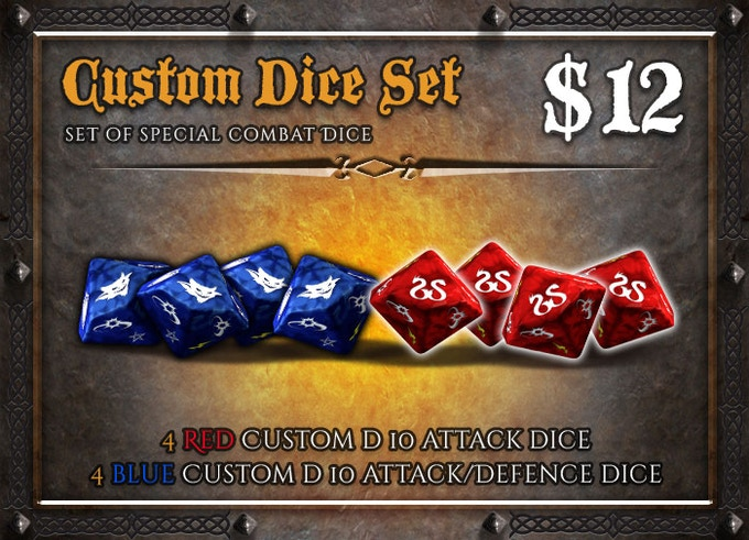 Multiple dice sets can be used to play more comfortably with many players at the table.