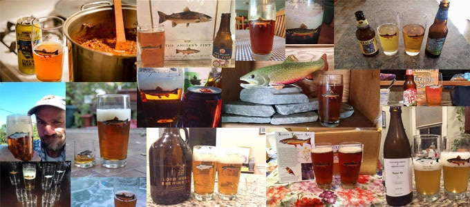 Brook Trout Angler's Pint Backers Sharing their First Pours