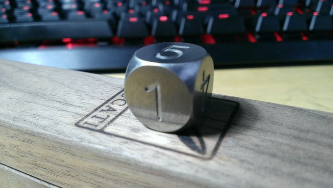 Tungsten D6 with rounded corners and numbers
