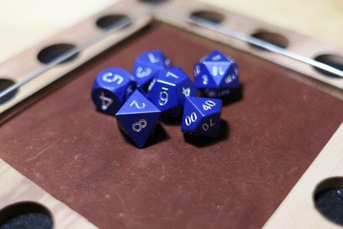 Blue anodized Aluminum