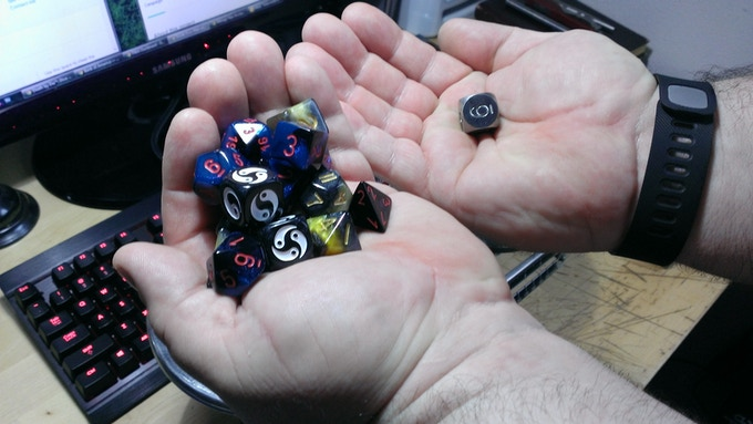 It takes this many dice to equal the mass of one tungsten D6