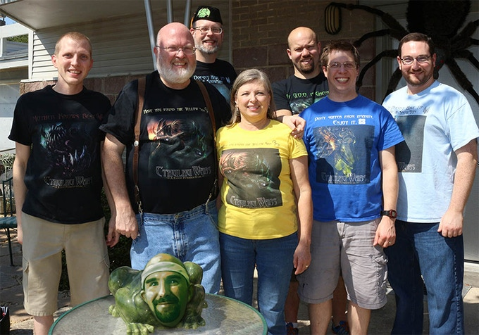 The Petersens, 3 Cultist, and 1 Friendly Frog