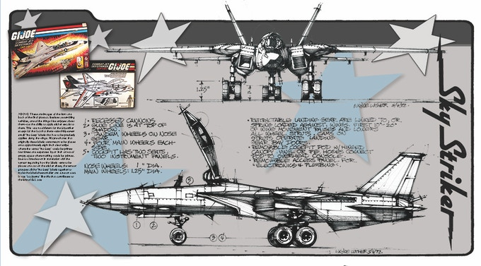 Two-page spread of the Sky Striker!