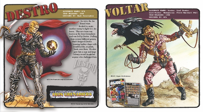Another example of a two-page spread for Destro and Voltar