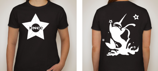 Ninja Narwhal Coffee Company Womens T-shirt (inverse!)