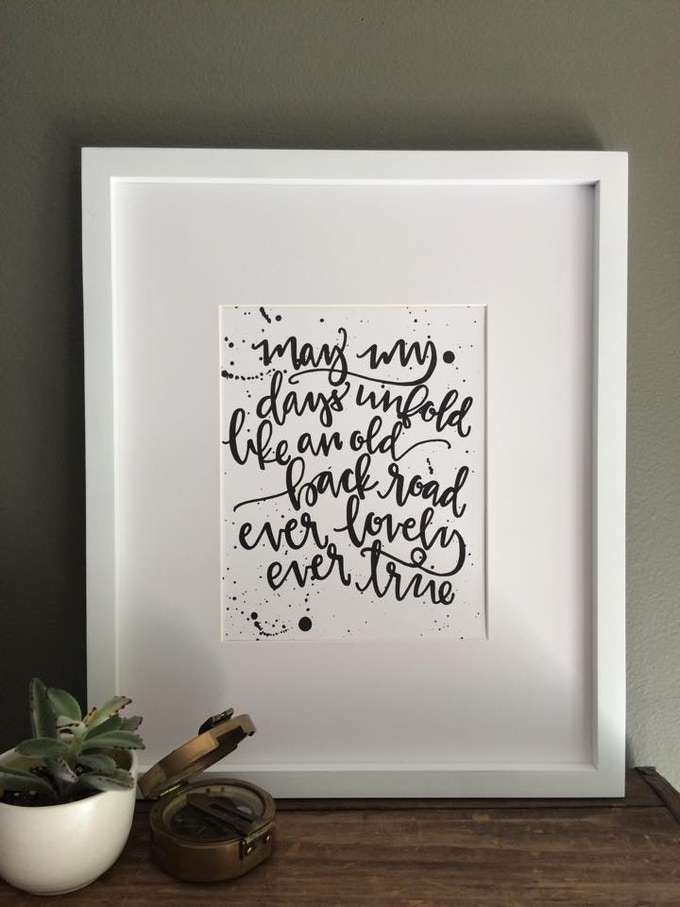 8X10 Lyric Print by Lovewell Handlettering (frame not included)