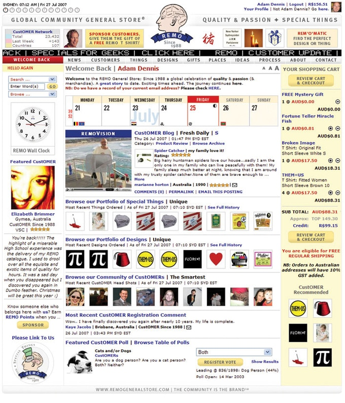 REMO Home Page in 2007
