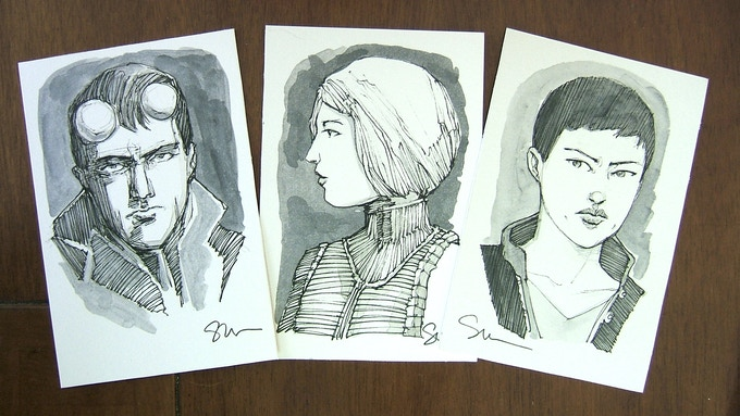 """4"""" x 6"""" Hand-drawn Character Cards"""