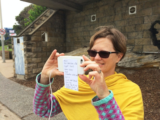 Melanie Shoots our Kickstarter Video at North Bondi in One Take