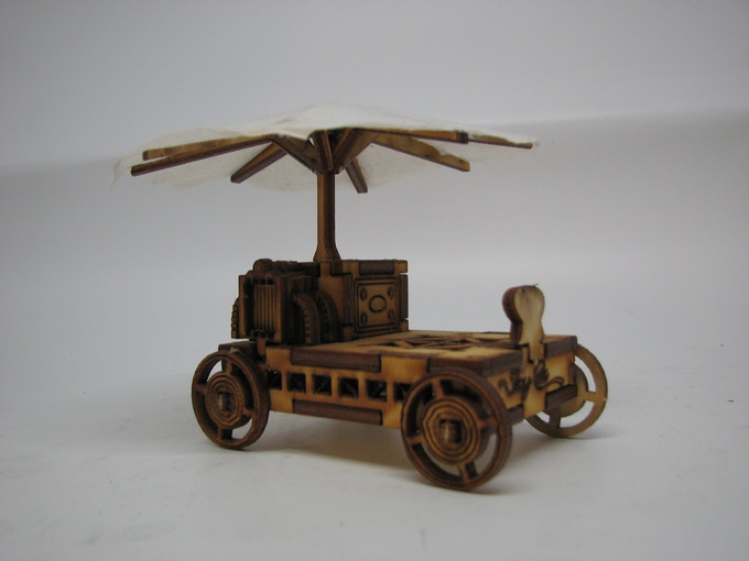 The Victorian version needed a tiny steam engine!