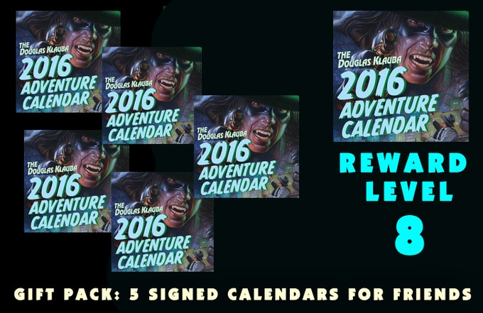 Gift Pack: 5 Signed Calendars for family and friends