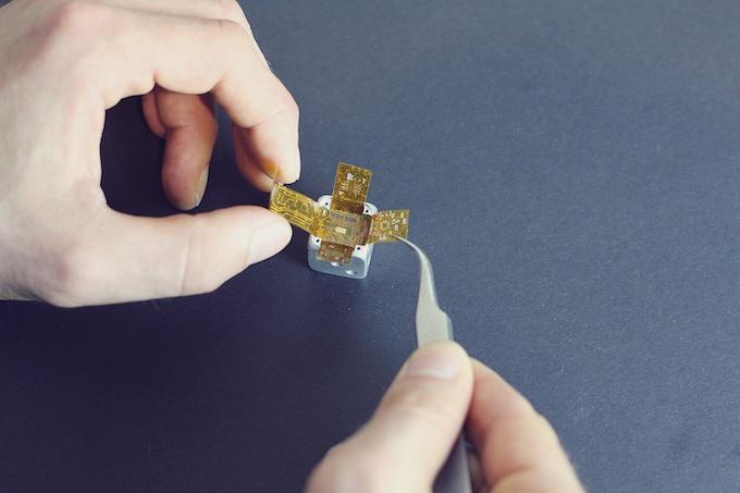 Placing flexible circuit board inside