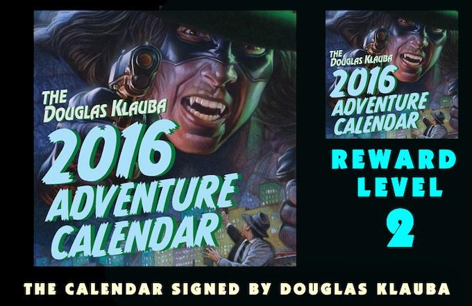 4-color 11 x 11 Calendar signed by Douglas Klauba