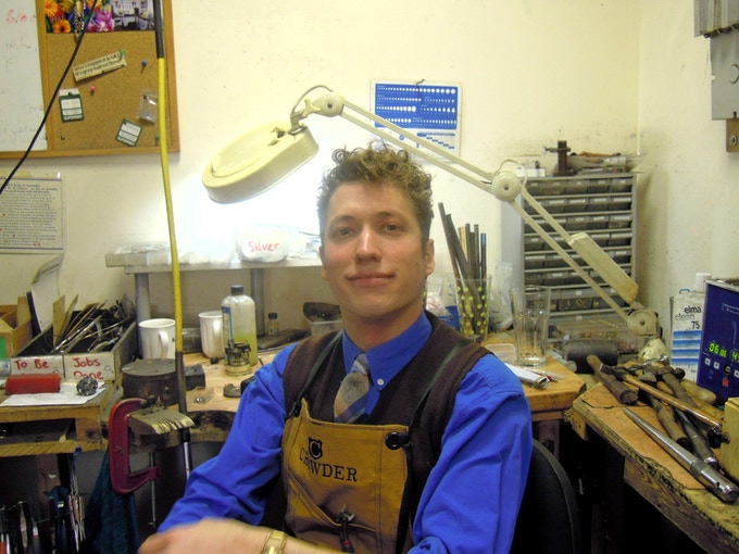James, Founder Of Crowder, In His Family Jewellery Workshop
