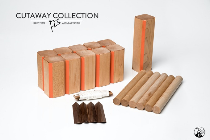 Cutaway Collection with maple and orange accent color