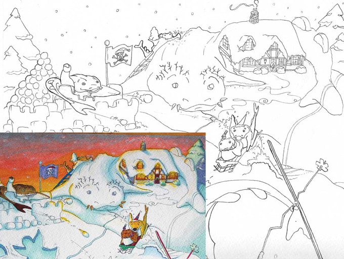 Every backer will ALSO get select COLORING BOOK PAGES of the book!