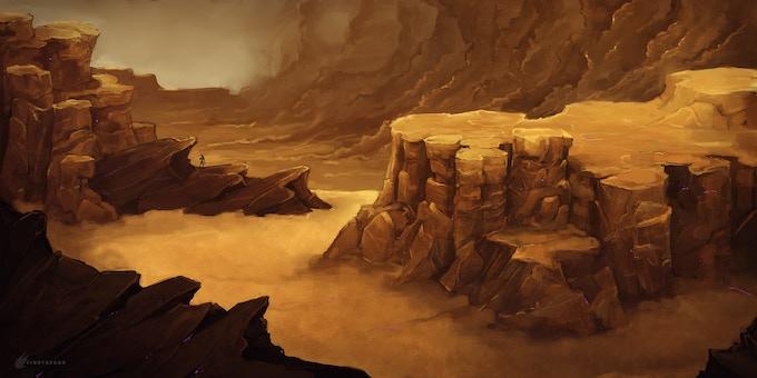 """Olympus - Demo"" Landscape Concept by Cindy Raggo"