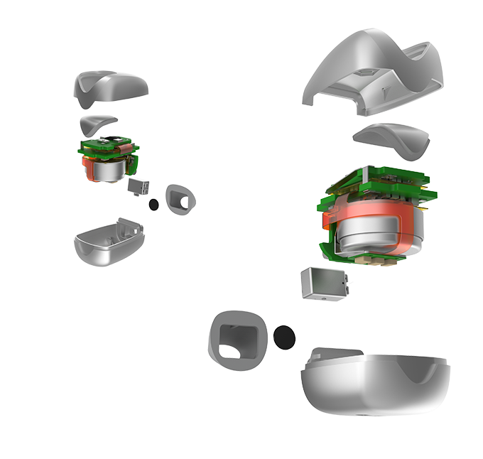 Exploded view of a Skybud