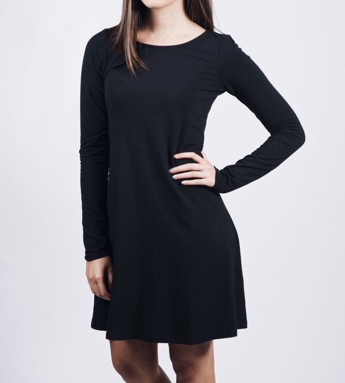 TRAPEZE DRESS (Available in Black and Army Green) (Sizes: XS, S, M, L, XL)