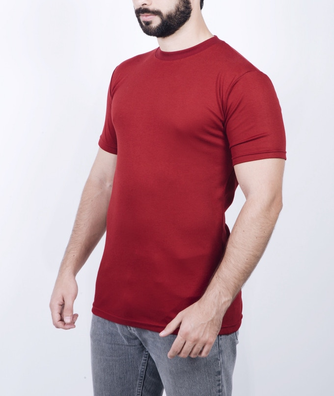 SHORT SLEEVE CREW NECK (Available in Black, Gray, White and Navy) (Sizes: S, M, L, XL, XXL)