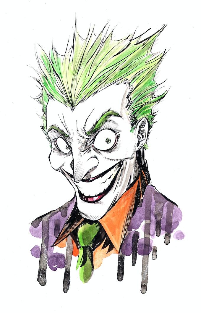 Joker Colored Original Sketch