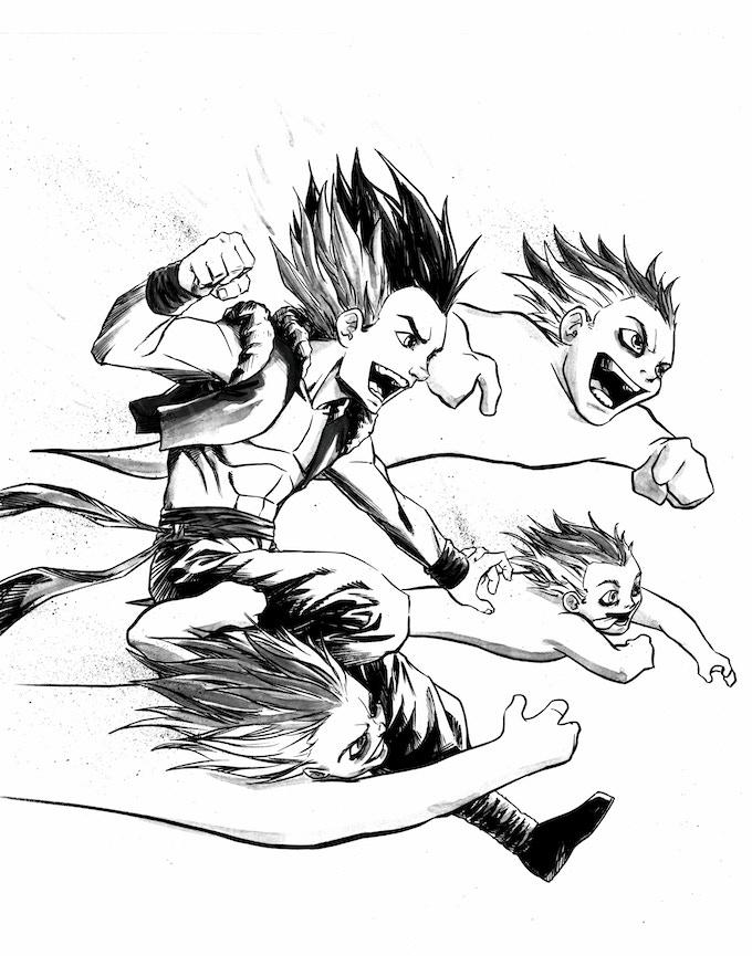 Gotenks Original Sketch