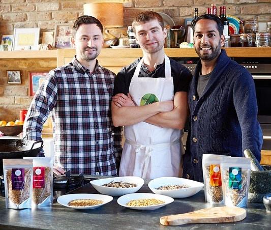 The Grub team: Neil, Seb and Shami