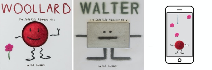 Woollard's Little Stitched Book, Walter's Little Graffiti Book and The Stuff Kids mobile app