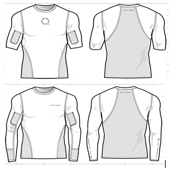 The Hydration Shirt - line drawings