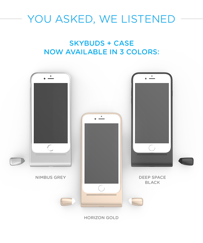 promo code 9149f 399f1 Skybuds - truly wireless earbuds and smartphone case by Alpha ...