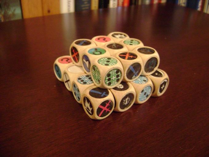 A few custom dice