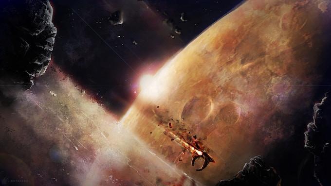 """Crash Landing"" by Cindy Raggo"