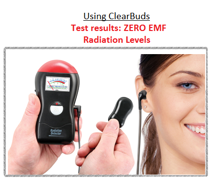 ClearBuds 99.9% Radiation Free!