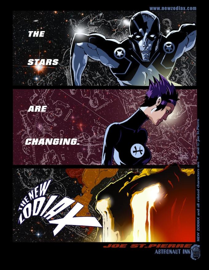 NEW ZODIAX Graphic Novel Volume 1 by Joe St Pierre by Joe