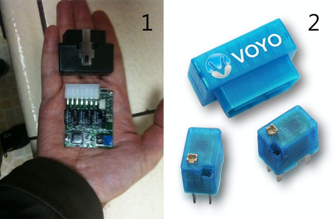 1. Early OBD/Actuator (2012) 2. VOYO and Relays v3.0 (2014)