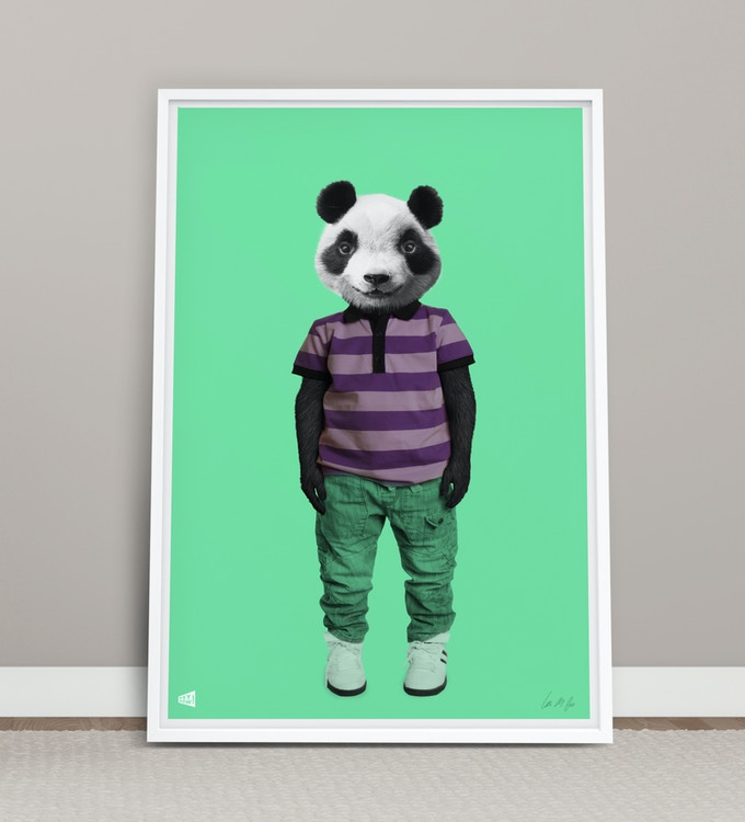 Panda Boy A3 print