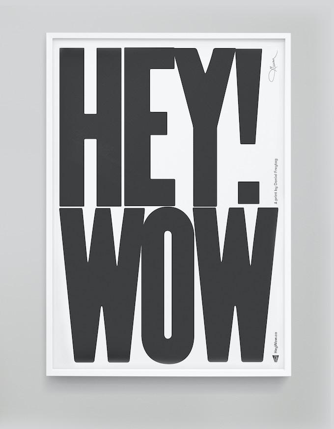 HeyWow! print in mono