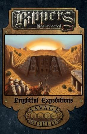 Art not final: a Draft Cover for Frightful Expeditions!