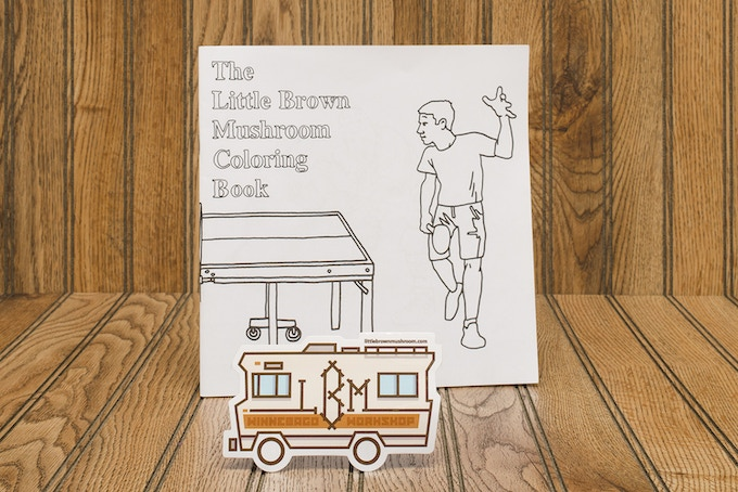 Pledge $15 - LBM Coloring Book by Jason Polan and a Winnebago Workshop Sticker