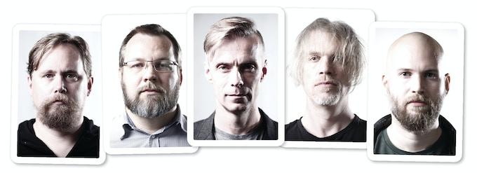 """Joakim Ericsson, Henrik Pettersson, Peter Bergting, Magnus """"Mojo"""" Olsson and Lukas Thelin."""