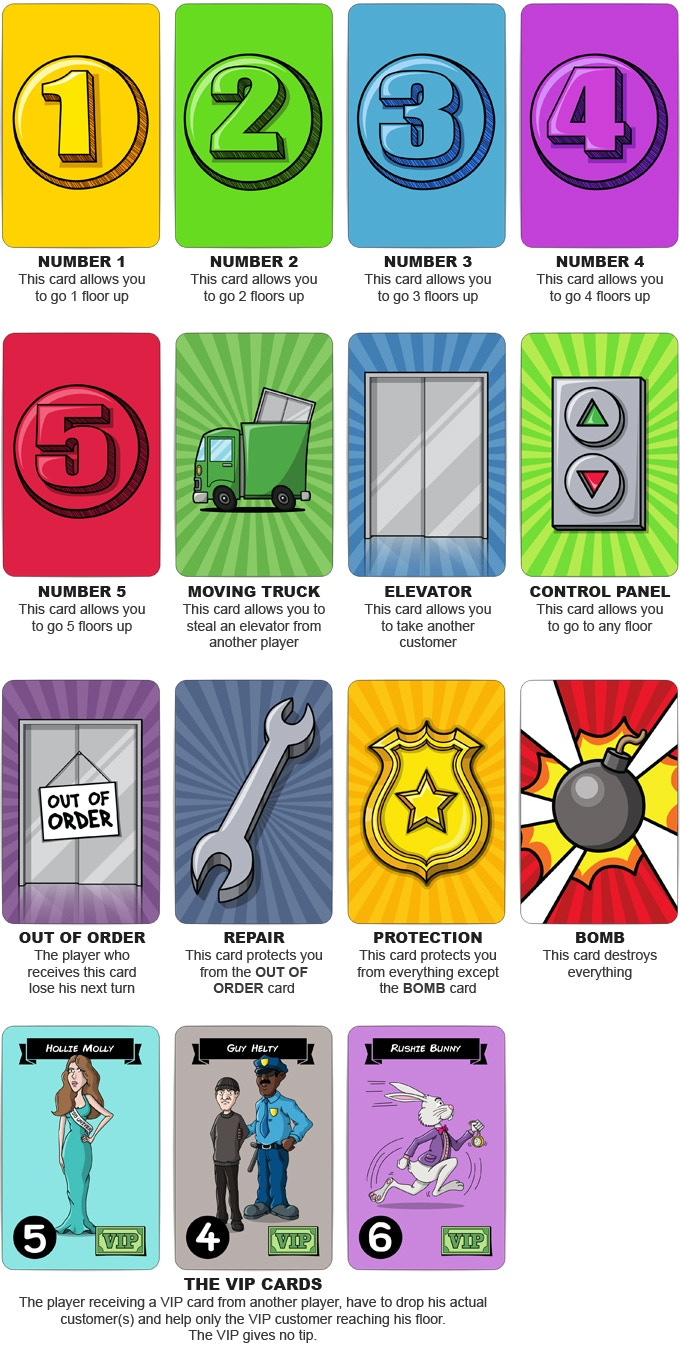 15 Action cards