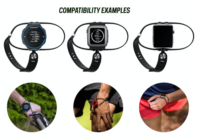 SHIFT band comes ready to fit many watches, including Apple, Pebble, many Garmin and Suunto and most spring-pin watches. If your watch has a spring-pin, like many watches do, it will likely fit.