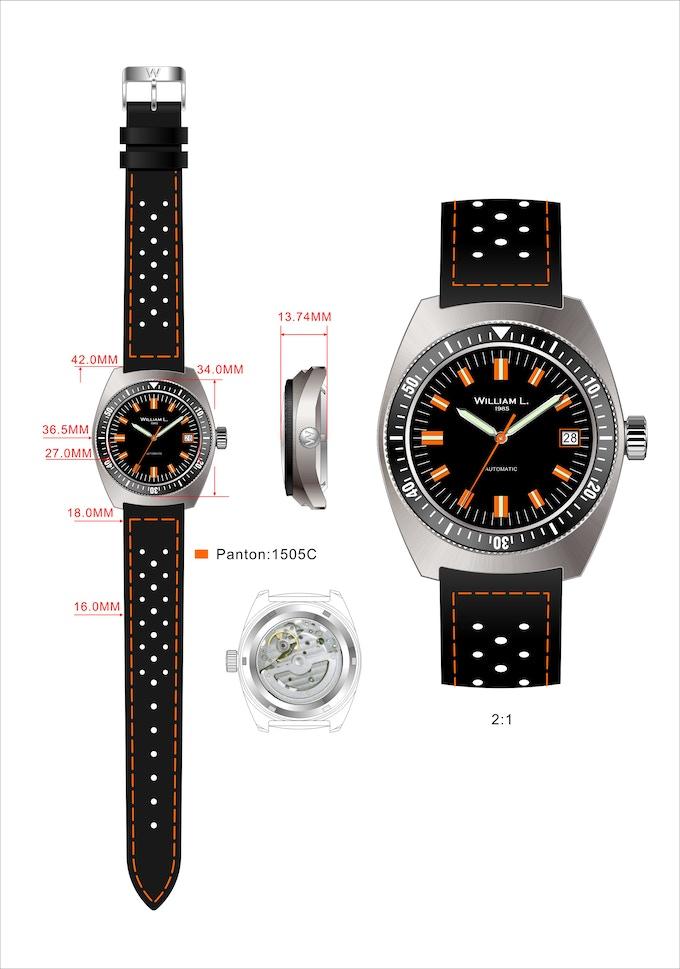 Vintage Diver 70's Style