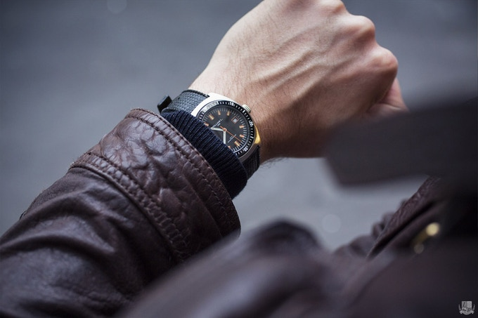 Automatic Vintage Diver on the wrist